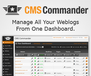 CMS Commander-One Site Manage For All Your Sites!