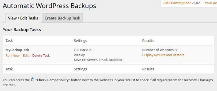 backups-task