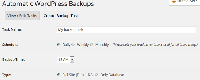 Backup WordPress blogs