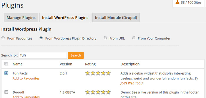 Install plugins to multiple blogs
