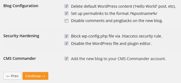 Install WordPress Pre-configured
