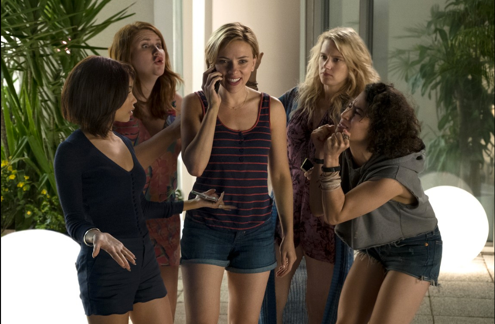 Rough Night, Film Review, Scarlett Johansson, Paul W. Downs, BFF,bawdy bachelorette party,